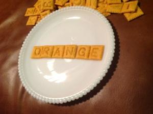 Something orange